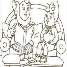 Jumbo lee un cuento a Noddy