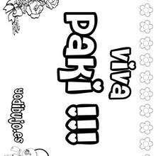 PAKI colorear nombres niñas - Dibujos para Colorear y Pintar - Dibujos para colorear NOMBRES - Dibujos para colorear NOMBRES NIÑAS