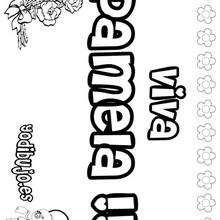 PAMELA colorear nombres niñas - Dibujos para Colorear y Pintar - Dibujos para colorear NOMBRES - Dibujos para colorear NOMBRES NIÑAS
