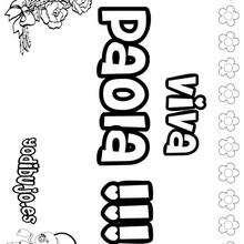 PAOLA colorear nombres niñas - Dibujos para Colorear y Pintar - Dibujos para colorear NOMBRES - Dibujos para colorear NOMBRES NIÑAS