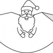 Manualidad infantil : Papá Noel de papel