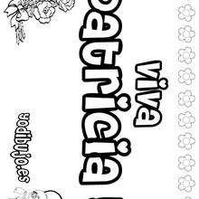 PATRICIA colorear nombres niñas - Dibujos para Colorear y Pintar - Dibujos para colorear NOMBRES - Dibujos para colorear NOMBRES NIÑAS