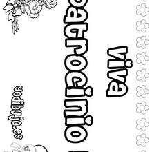 Nombre de niña para pintar : PATROCINIO