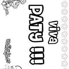 PATY colorear nombres niñas - Dibujos para Colorear y Pintar - Dibujos para colorear NOMBRES - Dibujos para colorear NOMBRES NIÑAS