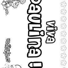 PAULINA colorear nombres niñas - Dibujos para Colorear y Pintar - Dibujos para colorear NOMBRES - Dibujos para colorear NOMBRES NIÑAS