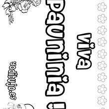 PAUNINIA colorear nombres niñas - Dibujos para Colorear y Pintar - Dibujos para colorear NOMBRES - Dibujos para colorear NOMBRES NIÑAS