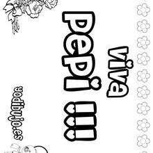 PEPI pintar nombre niño - Dibujos para Colorear y Pintar - Dibujos para colorear NOMBRES - Dibujos para pintar NOMBRES NIÑOS