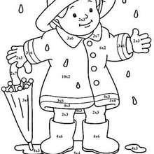 Niño 1 - Juegos divertidos - Juegos para IMPRIMIR - Juegos de PINTAR - Los personajes: dibujos mágicos