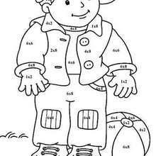 Niño 2 - Juegos divertidos - Juegos para IMPRIMIR - Juegos de PINTAR - Los personajes: dibujos mágicos