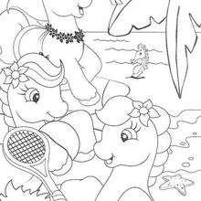 Dibujo para colorear : Ponies felices