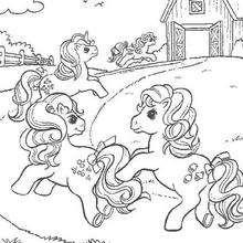 Dibujo para colorear : PRINCESS CELESTIA y otros ponies