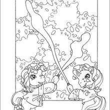 Dibujo MY LITTLE PONY para pintar gratis - Dibujos para Colorear y Pintar - Dibujos para colorear PERSONAJES - PERSONAJES ANIME para colorear - Mi pequeño Pony para colorear