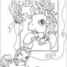 Dibujo MY LITTLE PONY para pintar - Dibujos para Colorear y Pintar - Dibujos para colorear PERSONAJES - PERSONAJES ANIME para colorear - Mi pequeño Pony para colorear
