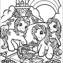 Dibujo MY LITTLE PONY para colorear online - Dibujos para Colorear y Pintar - Dibujos para colorear PERSONAJES - PERSONAJES ANIME para colorear - Mi pequeño Pony para colorear
