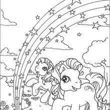 Dibujo de RAINBOW DASH para colorear - Dibujos para Colorear y Pintar - Dibujos para colorear PERSONAJES - PERSONAJES ANIME para colorear - Mi pequeño Pony para colorear