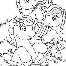 Dibujo para colorear : FLUTTER SHY