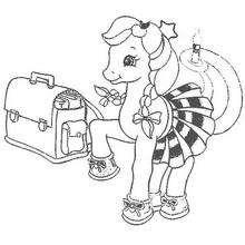 Dibujo BABY PONY para colorear - Dibujos para Colorear y Pintar - Dibujos para colorear PERSONAJES - PERSONAJES ANIME para colorear - Mi pequeño Pony para colorear