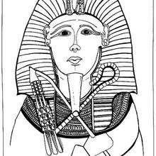 Faraón - Dibujos para Colorear y Pintar - Dibujos para colorear los PAISES - EGIPTO para colorear - Dibujos de los FARAONES DEL ANTIGUO EGIPTO para pintar