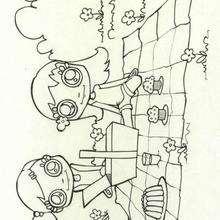 Picnic - Dibujos para Colorear y Pintar - Dibujos infantiles para colorear - Colorear las 4 temporadas - Dibujos de la primavera para pintar