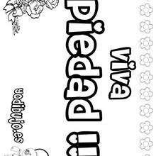 PIEDAD colorear nombres niñas - Dibujos para Colorear y Pintar - Dibujos para colorear NOMBRES - Dibujos para colorear NOMBRES NIÑAS