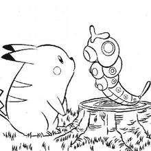 Dibujo Pikachu - Dibujos para Colorear y Pintar - Dibujos para colorear MANGA - Dibujos para colorear POKEMON - Dibujos para pintar POKEMON