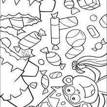 Dibujo para colorear : Dulces