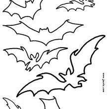Manualidad infantil : Patrón estarcido de murciélagos