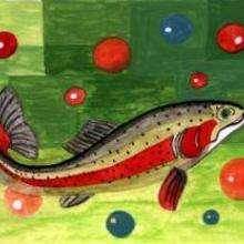 Ilustración : Pez en el agua