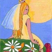 Princesa amarilla - Dibujar Dibujos - IMAGENES infantiles - Imagenes infantiles para ver e imprimir - Reyes y príncipes