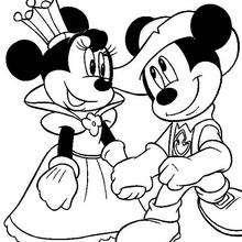 Dibujos Para Colorear Mickey Y Minnie Enamorados Eshellokidscom