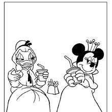 Dibujos Para Colorear Minnie Y Daisy Las Princesas Es