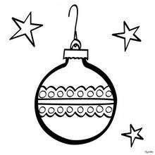 Bola de Navidad - Dibujos para Colorear y Pintar - Dibujos para colorear FIESTAS - Dibujos para colorear de NAVIDAD - ADORNOS NAVIDEÑOS para colorear