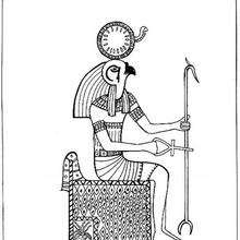 Rê-Harakhté - Dibujos para Colorear y Pintar - Dibujos para colorear los PAISES - EGIPTO para colorear - DIOSES EGIPCIOS para colorear
