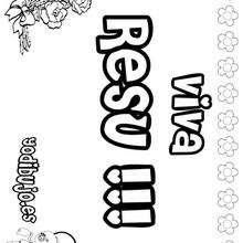 RESU colorear nombres niñas - Dibujos para Colorear y Pintar - Dibujos para colorear NOMBRES - Dibujos para colorear NOMBRES NIÑAS