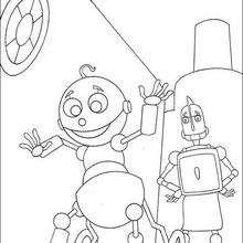 Rodney Hojalata con su Papá - Dibujos para Colorear y Pintar - Dibujos de PELICULAS colorear - Dibujos para colorear ROBOTS PELICULA - Dibujos para colorear RODNEY ROBOTS