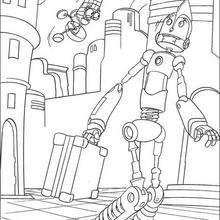 Rodney con su invención - Dibujos para Colorear y Pintar - Dibujos de PELICULAS colorear - Dibujos para colorear ROBOTS PELICULA - Dibujos para colorear RODNEY ROBOTS