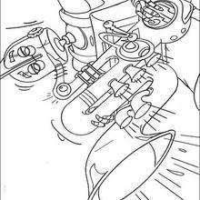 Dibujo para colorear : Rodney el robot y el saxofón