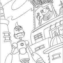 Rodney y el Gran Soldador - Dibujos para Colorear y Pintar - Dibujos de PELICULAS colorear - Dibujos para colorear ROBOTS PELICULA - Dibujos para colorear RODNEY ROBOTS