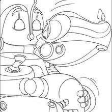 Los robots Rodney y Cappy - Dibujos para Colorear y Pintar - Dibujos de PELICULAS colorear - Dibujos para colorear ROBOTS PELICULA - Dibujos para colorear RODNEY ROBOTS
