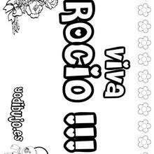 ROCIO colorear nombres niñas - Dibujos para Colorear y Pintar - Dibujos para colorear NOMBRES - Dibujos para colorear NOMBRES NIÑAS
