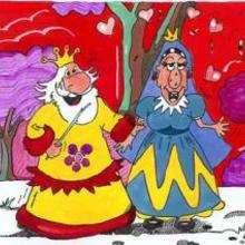 Ilustración : Rey y reina