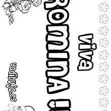 ROMINA colorear nombres niñas - Dibujos para Colorear y Pintar - Dibujos para colorear NOMBRES - Dibujos para colorear NOMBRES NIÑAS