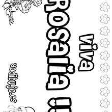 ROSALIA colorear nombres niñas - Dibujos para Colorear y Pintar - Dibujos para colorear NOMBRES - Dibujos para colorear NOMBRES NIÑAS