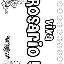 ROSARIO colorear nombres niñas - Dibujos para Colorear y Pintar - Dibujos para colorear NOMBRES - Dibujos para colorear NOMBRES NIÑAS