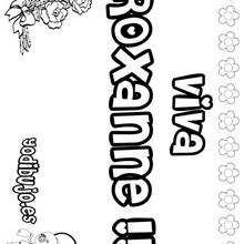 ROXANNE colorear nombres niñas - Dibujos para Colorear y Pintar - Dibujos para colorear NOMBRES - Dibujos para colorear NOMBRES NIÑAS