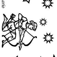 Sagitario - Dibujos para Colorear y Pintar - Dibujos infantiles para colorear - Signos del Zodiaco para colorear