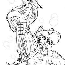 Sailor Moon y amiga - Dibujos para Colorear y Pintar - Dibujos para colorear MANGA - Dibujos para colorear SAILOR MOON - Dibujos para colorear gratis SAILOR MOON