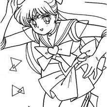Sailor Moon corriendo - Dibujos para Colorear y Pintar - Dibujos para colorear MANGA - Dibujos para colorear SAILOR MOON - Dibujos para colorear gratis SAILOR MOON
