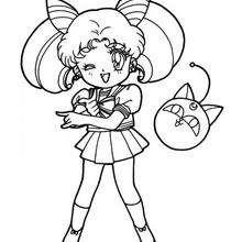 Sailor Moon chica - Dibujos para Colorear y Pintar - Dibujos para colorear MANGA - Dibujos para colorear SAILOR MOON - Dibujos para colorear gratis SAILOR MOON