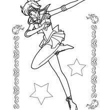 Dibujo para colorear : Sailor Moon  baila